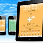 iPhone版で好評を頂いた「お天気時計」のiPad版「お天気時計HD」がリリースされました