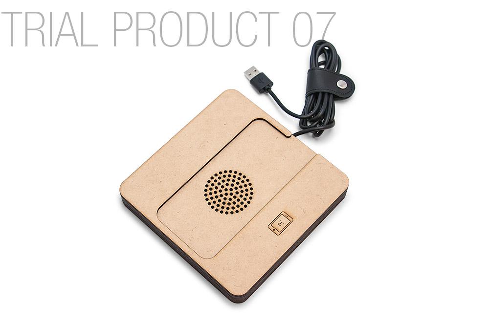 レーザー加工で制作した、iQi Mobile Charger 収納ケース