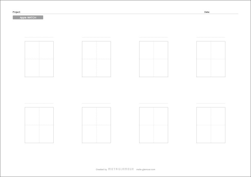 Apple Watch Paper Prototyping Sheet Page 2