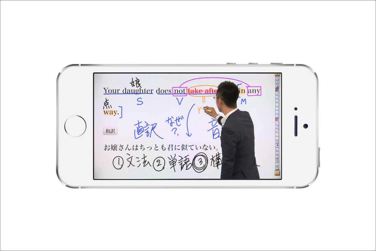 GENIUS動画英文法1000アプリの動画視聴時画面