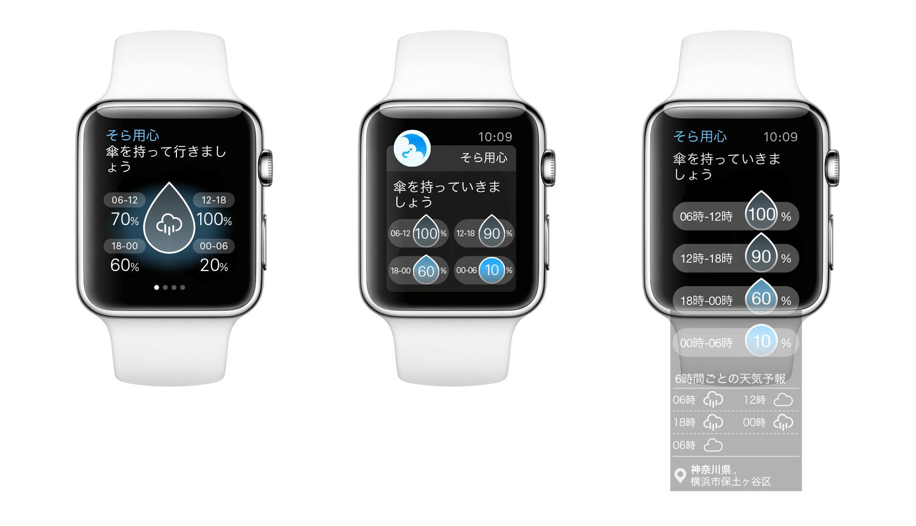 そら用心、Apple Watch対応版