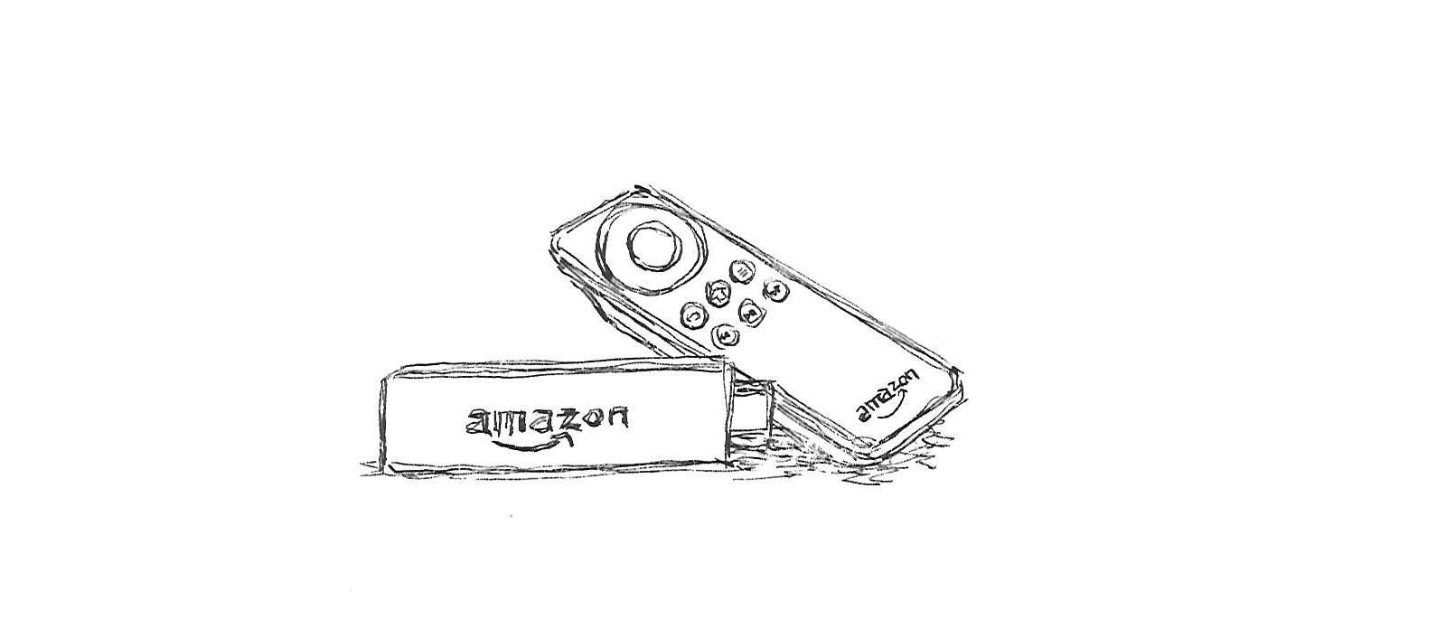 Amazon Fire TV Stickのイラスト