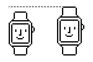 Happy Watchの背比べ