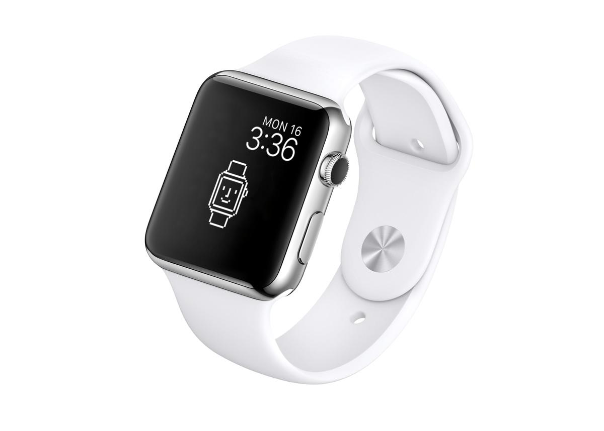 Apple WatchのロックスクリーンにHappyな壁紙を設定した状態
