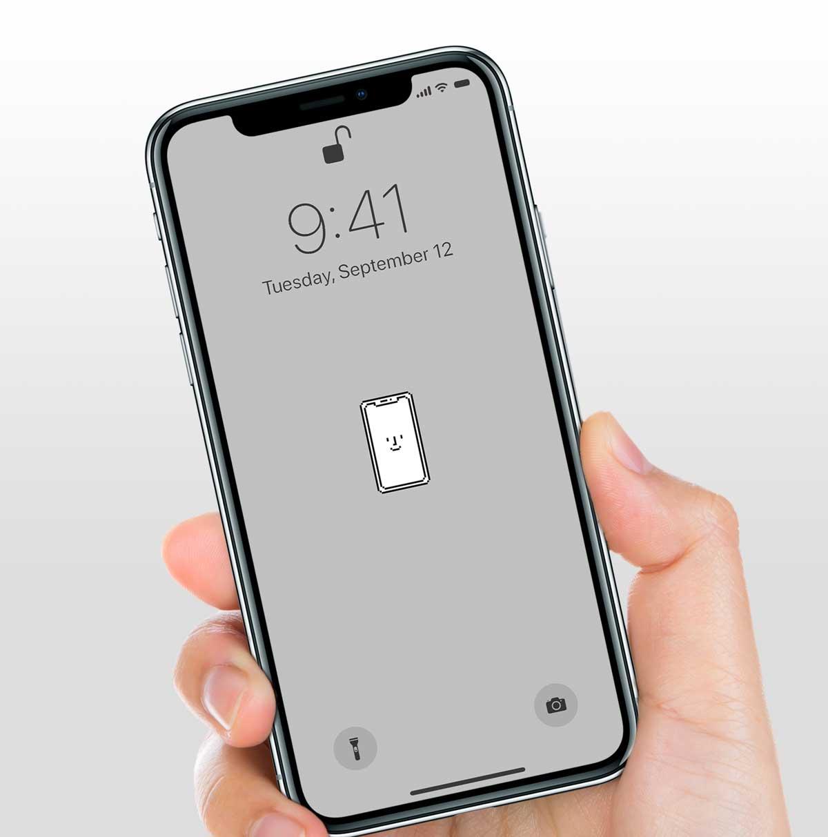 Iphone X用のhappyな壁紙 Happy Iphone X メタ ノート