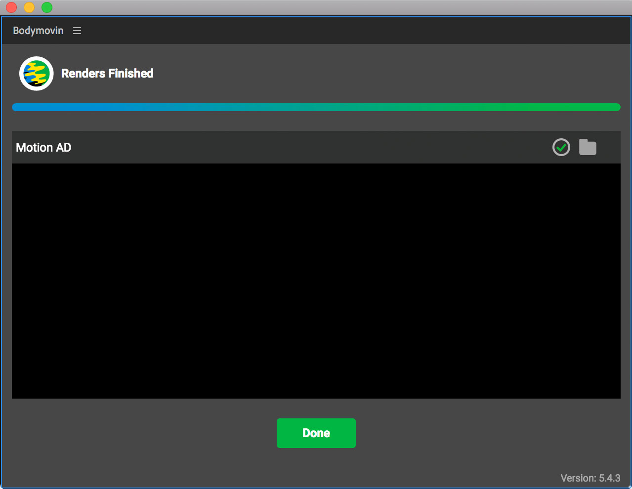 After Effectsプラグイン、Bodymovinの操作手順画面